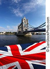 wieża most, w, londyn, anglia