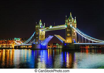 wieża most, w, londyn, wielka brytania