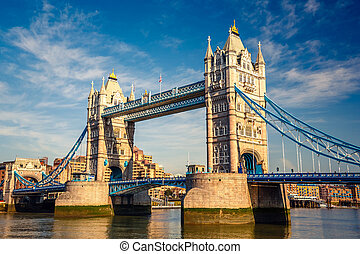 wieża most, w, londyn