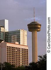 wieża, od, amery