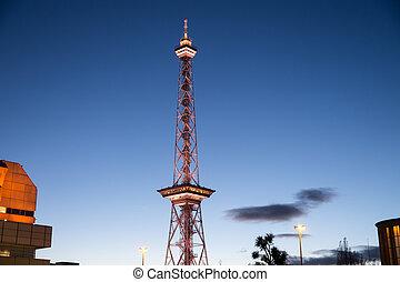 wieża, radio, berlin
