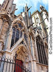 wieże, katedra, notre-paniusia, prospekt