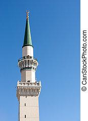 wieże, nabawi, meczet, jeden