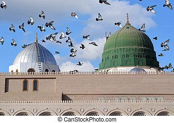 wieże, nabawi, meczet