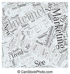 wie, artikel, marketing, changed, der, gesicht, von, internet, wort, wolke, begriff