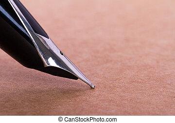 wieczne pióro, na, papier