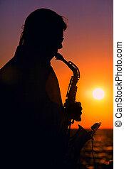 wieczorny, jazz