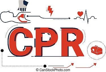 wiederbelebung, (cpr), kardiopulmonal