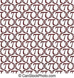 wiederholung, muster, symbol, hintergrund, weißes, pi, rotes