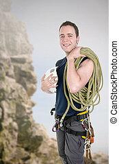 wiegen klimmer, met, uitrusting