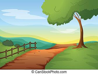 wiejski, landcape