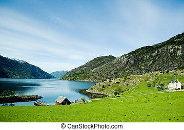 wiejski, norwegia