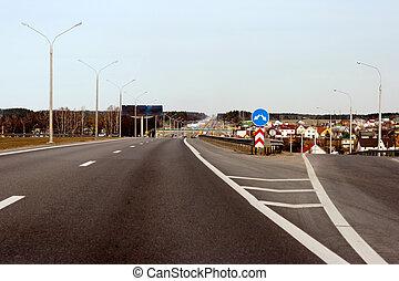 wiejski, skrzyżowanie dróg
