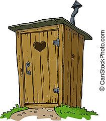 wiejski, toaleta