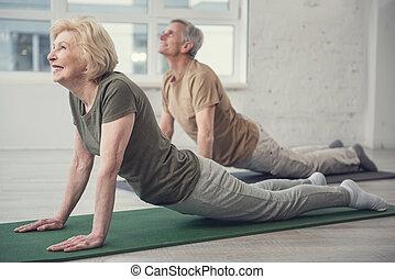wiek, elastyczność, ludzie, ich, rozwijanie
