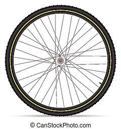 wiel, de fiets van de berg