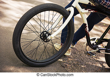 wiel, frame, fiets