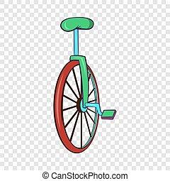 wiel, stijl, of, fiets, een, unicycle, pictogram, spotprent