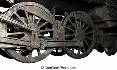 wiel, van, antieke , trein