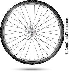 wiel, vector, fiets