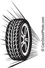 wiel, (vector, tyre)