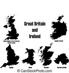 wielka brytania, irlandia, +