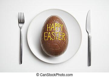 wielkanoc, czekoladowe jajko, płyta