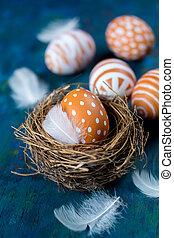 wielkanoc, gniazdować jajko