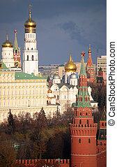 wielki, dzwonnica, moskwa, iwan, kreml, prospekt