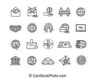 wielki, ikony, komplet, ryczałt handlowy