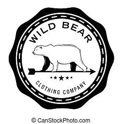 wielki pozadomowy, :, niedźwiedź, etykieta
