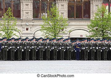 wielki, skwer, może, -, moskwa, 6, dziąsło, wojna, powtórka, surowy, honor, zwycięstwo, uczestniczyć, 2010, wojsko, 6:, moskwa, patriotyczny, rosja, czerwony, stać