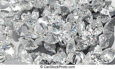 wielki, tło., diament, grupa, kamienie