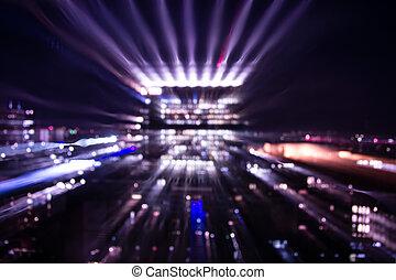 wielkie miasto, światła