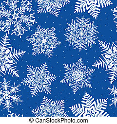 wielostrzałowy, seamless, tło, płatek śniegu