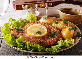 kartoffeln zitrone salat schnitzel kartoffeln lemon salat schnitzel. Black Bedroom Furniture Sets. Home Design Ideas
