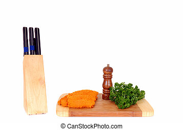 Wiener Schnitzel on cutting board