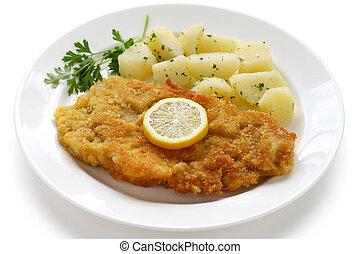 wiener schnitzel, veal cutlet - austrian cuisine