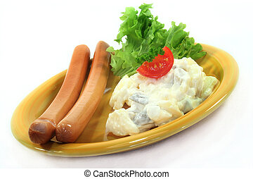 Wiener with potato salad