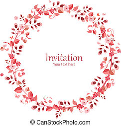 wieniec, projektować, zaproszenie, kwiatowy, twój, karta