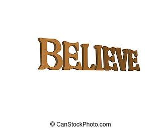 wierzyć, inspiracyjny, znak