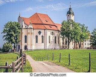 wieskirche, bavière, allemagne