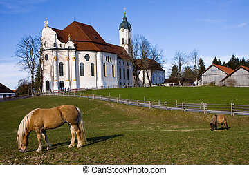 wieskirche sanctuary - wieskirche sancturary