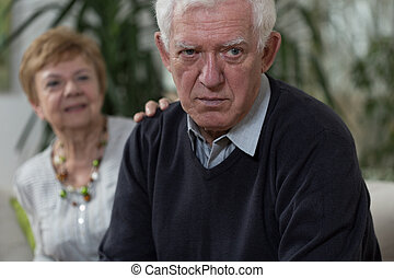 Wife apologizing husband