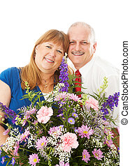 Wife Gets Flowers from Husband