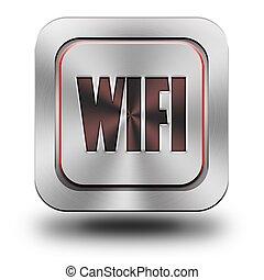 WIFI aluminum glossy icon