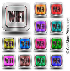WIFI aluminum glossy icons, crazy colors
