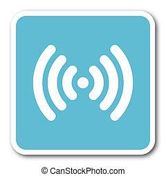 wifi, blaues quadrat, internet, wohnung, design, ikone
