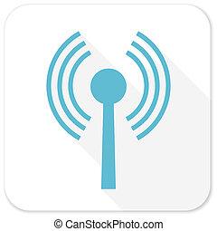 wifi blue flat icon