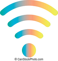 wifi, coloreado, icono